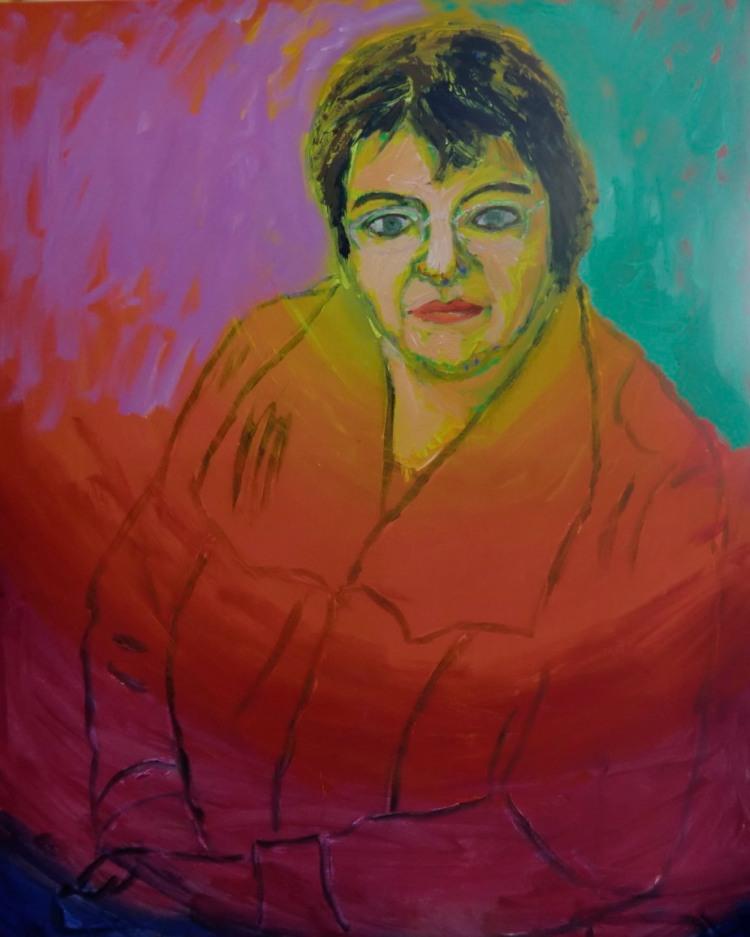 Vibeke Storm Rasmussen. 100x81 cm . 2014.